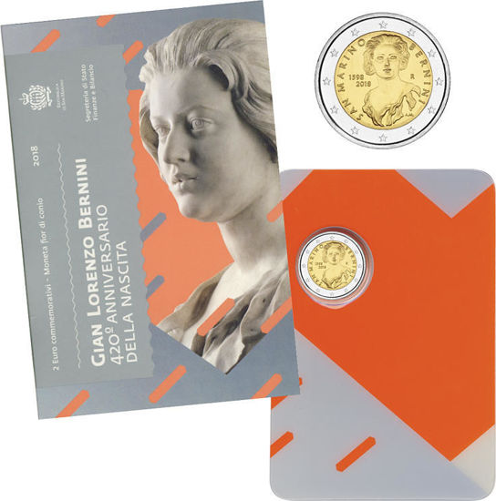 Picture of Сан-Марино 2 евро 2018,  420 лет со дня рождения Джованни Лоренцо Бернини