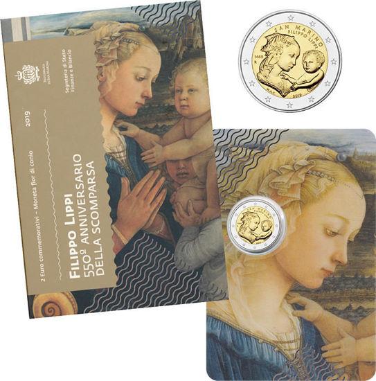 Picture of Сан-Марино 2 евро 2019,  550 лет со дня смерти Филиппо Липпи