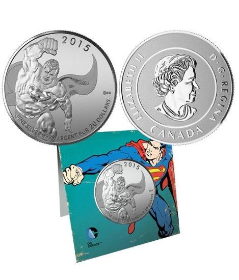 Picture of Канада 20 долларов 2015, Супермэн. Серебро 7,96 гр. В буклете