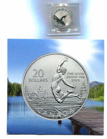 Picture of Канада 20 доларів 2014 року, Дух літа. Срібло 7,96 гр. В буклеті
