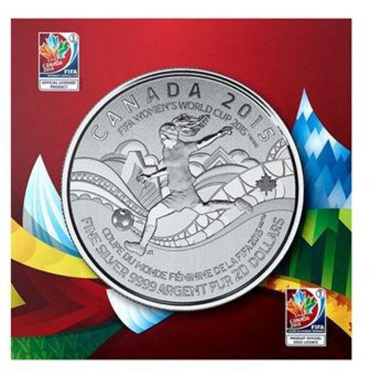 Picture of Канада 20 долларов 2015, Чемпионат мира по женскому футболу. Серебро 7,96 гр. В буклете