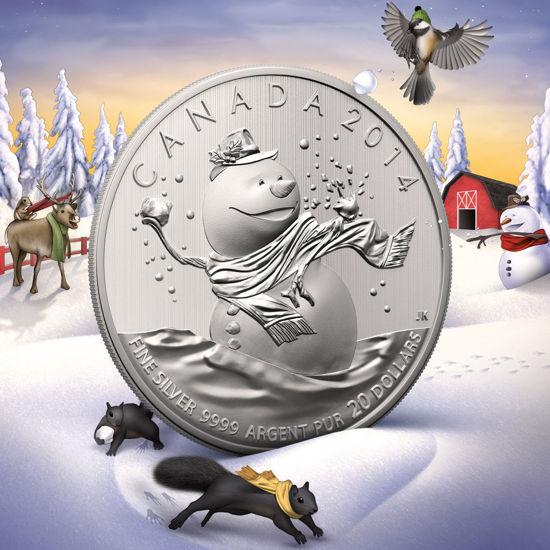 Picture of Канада 20 долларов 2014, Снеговик. Серебро 7,96 гр. В буклете