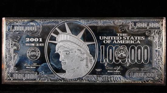Picture of Срібний злиток 1 000 000 доларів США