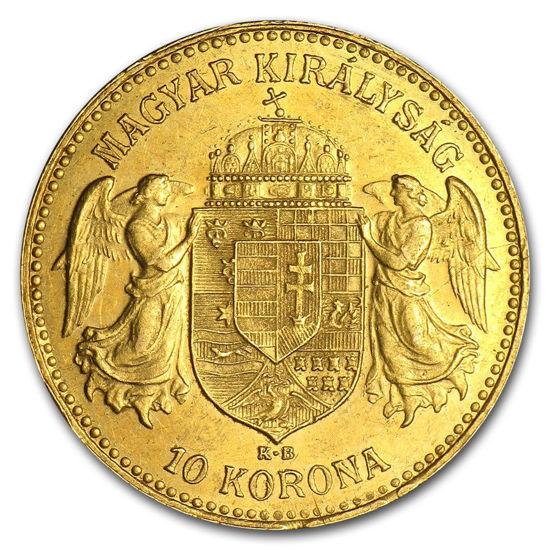 "Picture of Золота монета ""10 крон"" Угорщина 3.4 грам"