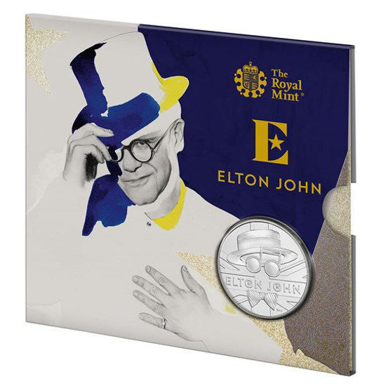 Picture of Англия, Великобритания 5 фунтов 2020. Элтон Джон. «Illustration»