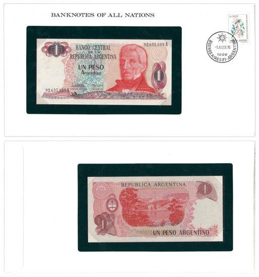 """Picture of Аргентина 1 песо 1983, Серія """"Банкноти всіх країн світу"""""""