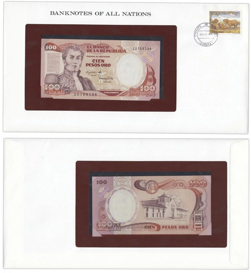 "Picture of Колумбия 100 песо 1983, Серия ""Банкноты всех стран мира"""
