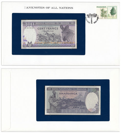 "Picture of Руанда 100 франков 1982, Серия ""Банкноты всех стран мира"""