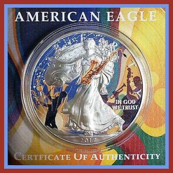 "Picture of Серебряная монета ""Американский орел Liberty - Джаз"" 31.1 грамм 2017 г."