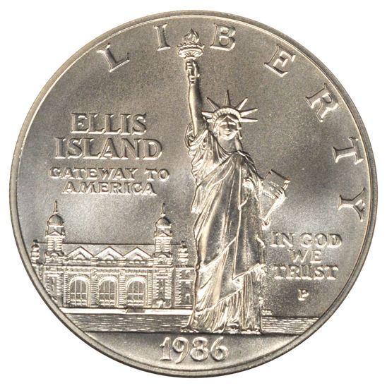 "Picture of Cеребряная  монета ""Либерти – 1 доллар"" 26,73 грамм 1986"
