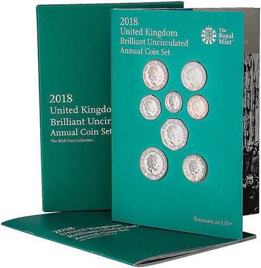 Picture of Англія, Великобританія Річний набір 2018 через 13 монет.BU