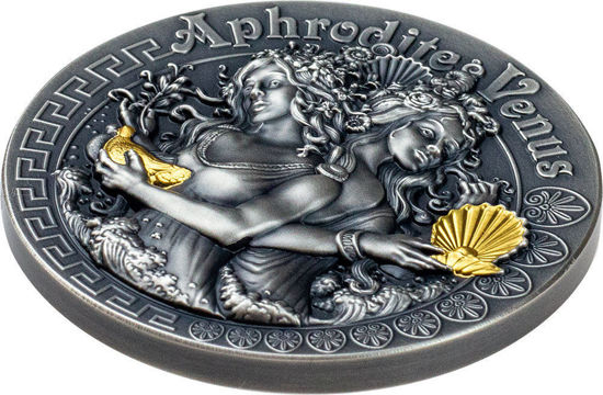 "Picture of Cеребряная  эксклюзивная монета ""Афродита и Венера"" Ниуэ 62.2 грамм 2020"