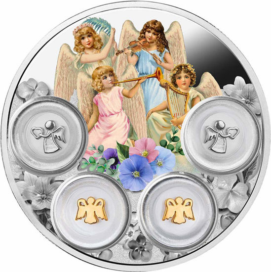 "Picture of  Срібна монета ""Маленькі ангели"" 77,75 грам 2019"