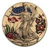 """Picture of Серебряная монета  """"Liberty - Американская традиционная татуировка """"Змеи и розы"""""""" 31.1 грамм 2018 г."""