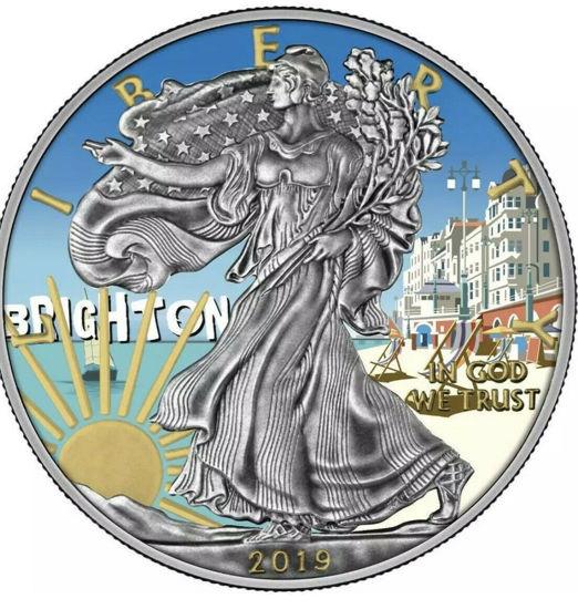 """Picture of Срібна монета """"Американський орел Liberty - Брайтон-Біч"""" 31.1 грам 2019 р. США"""
