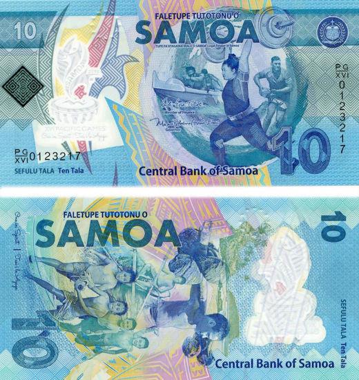 Picture of Самоа 10 тала 2019, XVI Тихоокеанські ігри, полімер
