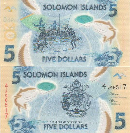 Picture of Соломоновы Острова 5 долларов 2019 (полимер)