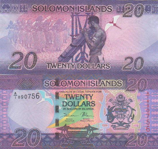 Picture of Соломоновы Острова 20 долларов 2017
