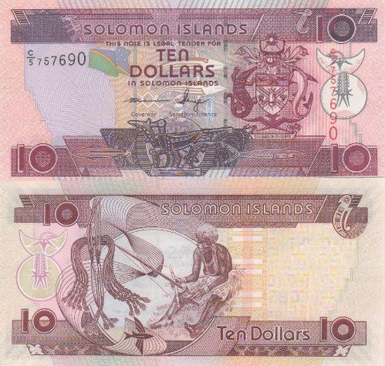 Picture of Соломонові Острови 10 доларів 2011
