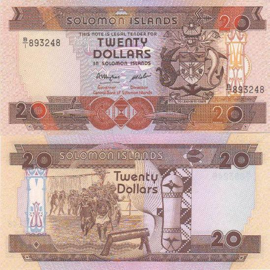 Picture of Соломоновы Острова 20 долларов 1986 (Р16)