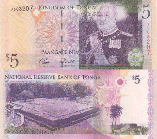 Picture of Королевство Тонга 5 паанга 2009 (2014) (Р39а)