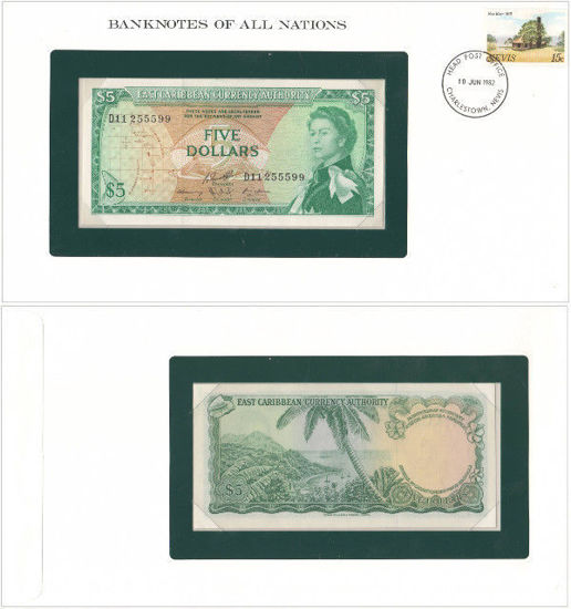 """Picture of Восточные Карибы 5 долларов 1965, Серия """"Банкноты всех стран мира"""" (P14h)"""