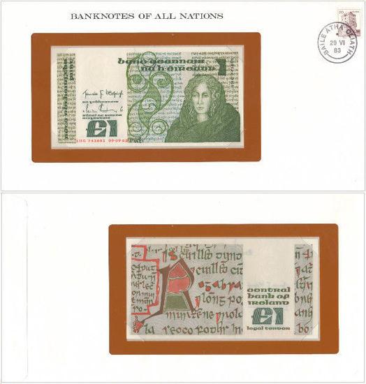 """Picture of Ірландія 1 фунт 1982, Серія """"Банкноти всіх країн світу"""""""