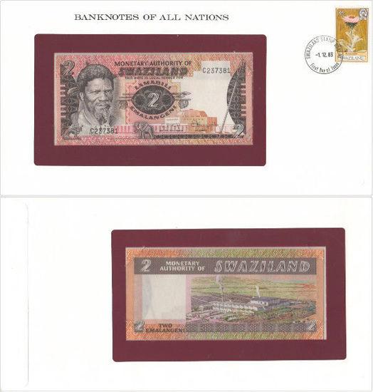 "Picture of Свазиленд 2 эмалангени 1974, Серия ""Банкноты всех стран мира"" (Р2а)"