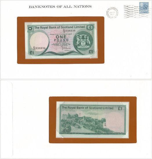 """Picture of Шотландія 1 фунт 1981, Серія """"Банкноти всіх країн світу"""" (Р336)"""