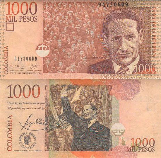 Picture of Колумбія  1000 песо 2001