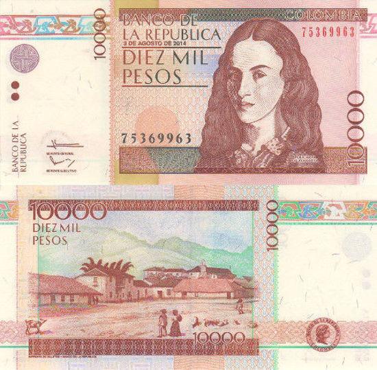 Picture of Колумбия 10000 песо 2014 (P453)