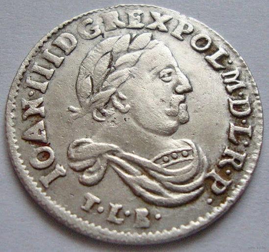 Picture of Монета 6 грошей Польша 1683 года серебро