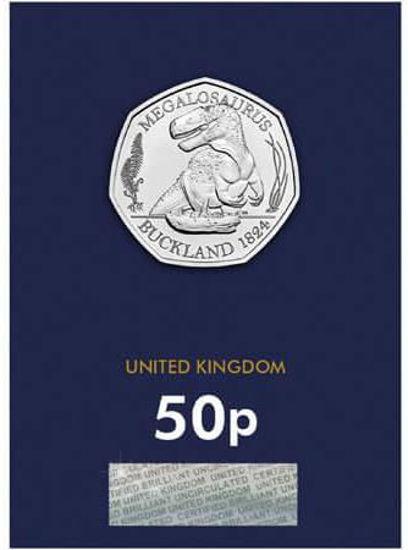 Picture of Англія, Великобританія 50 пенсів 2020. Мегалозавр