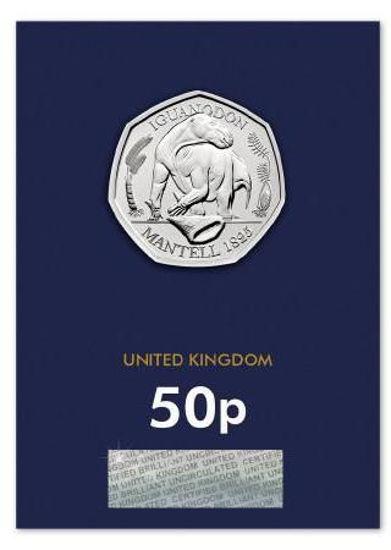 Picture of Англія, Великобританія 50 пенсів 2020. Ігуанодони