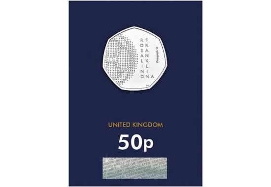 Picture of Англия, Великобритания 50 пенсов 2020. Розалинд Франклин