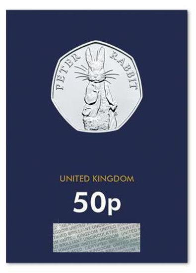 Picture of Англия, Великобритания 50 пенсов 2019.  Кролик Питер