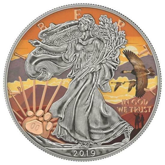 "Picture of Серебряная монета ""Американский орел - Liberty Халеакала"" США 2019 г."