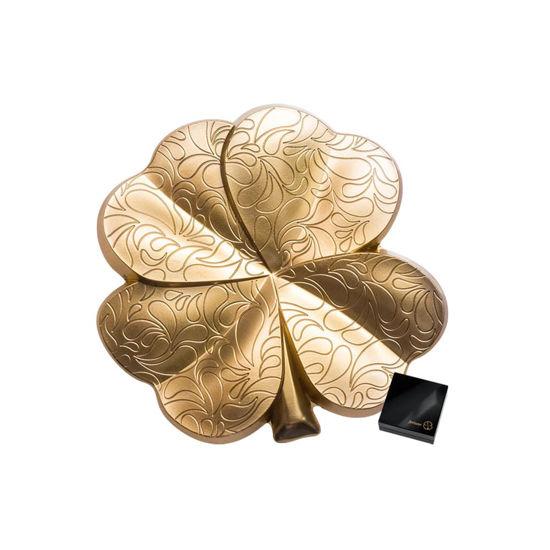 "Picture of Срібна позолочена 3D монета у формі чотирьохлистника конюшини ""Фортуна"" 31,1 грам 2020 р."