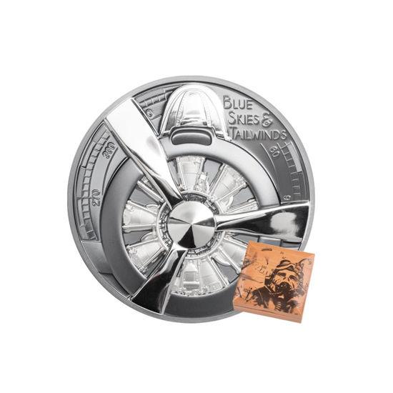 """Picture of Срібна монета """"Пропелер аероплана - Блакитного неба"""" 62,2 грам 2020 р"""