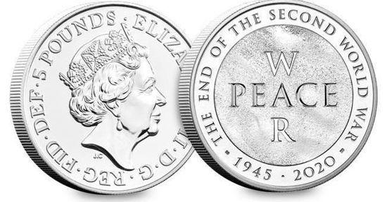 Picture of Англія, Великобританія 5 фунтів 2020 року, 75 років закінчення Другої світової війни (в буклеті)