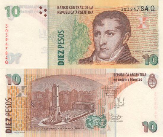 Picture of Аргентина 10 песо 2003 (Р-354b)