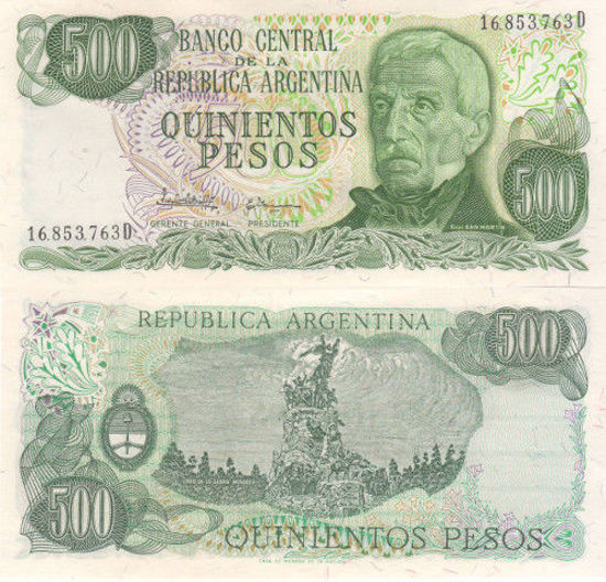 Picture of Аргентина 500 песо 1977-1982 (Р-303c)