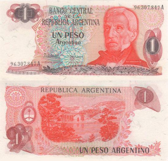 Picture of Аргентина 1 песо 1983-1984 (Р-311a)