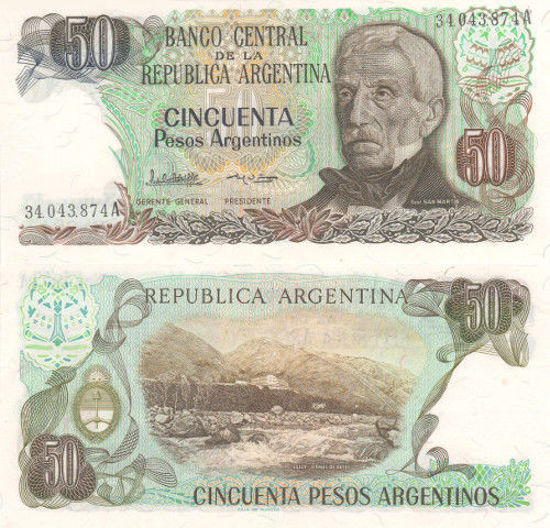 Picture of Аргентина 50 песо 1983-1985 (Р-314a)