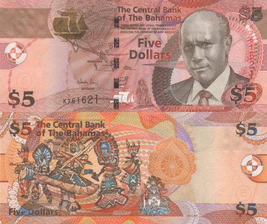 Picture of Багамські острови 5 доллара 2013
