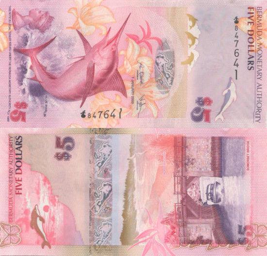Picture of Бермудські острови 5 доларів 2009 (Р-58а)