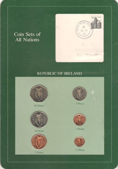 """Picture of Ірландія, Набір з 6 монет і 1 марки в буклеті 1980-1983, Серія """"Набори монет всіх країн світу"""""""