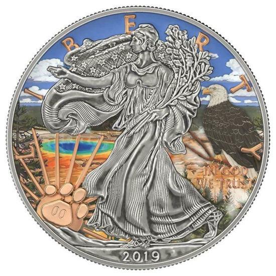"Picture of Срібна монета ""Американський орел - Liberty Йеллоустоун"" США 2019 р"