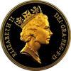 """Picture of Золотая монета """"Святой Георгий и дракон"""" Пять соверенов 1985 39,94 грамм"""