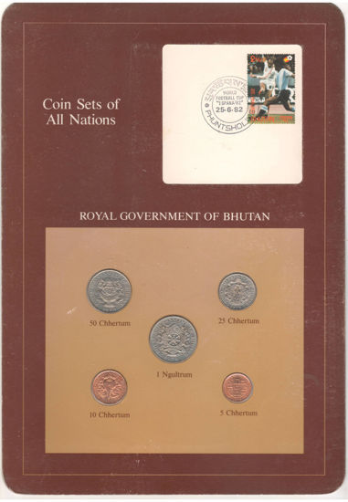 """Picture of Бутан, Набір з 5 монет і 1 марки в буклеті 1979, Серія """"Набори монет всіх країн світу"""""""